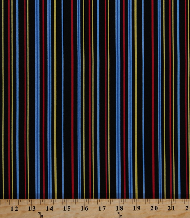 Cotton Stripes Blue Red Yellow Black Striped Baby Safari ...