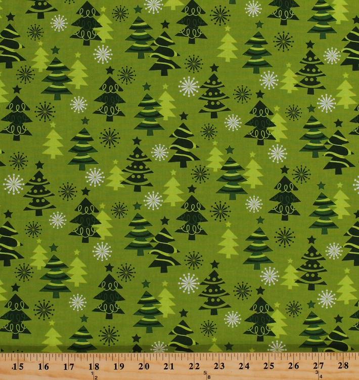 Christmas trees pines firs holiday green festive o tinsel