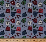 Cotton Christmas Sweaters Hats Mittens Scarf Scarves Gray Winter Cotton Fabric Print by the Yard (308-gray)