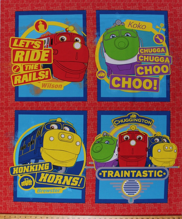35 x 44 panel trains engines railway railroad for Kids train fabric