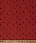 Cotton Horseshoes Horse Shoes Equestrian Horseshoe Farrier Ranch Cowboys Western Purebred Rust Red Cotton Fabric Print by the Yard (26096-16)