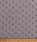 Cotton Horseshoes Horse Shoes Equestrian Horseshoe Farrier Ranch Cowboys Western Purebred Gray Cotton Fabric Print by the Yard (26096-11)