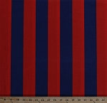 Cotton Two by Two Stripe in Twilight Blue and Red 2