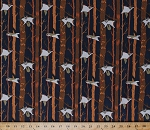 Cotton Ramble & Roost Flying Squirrels Animals Night Forest Woods Trees on Light Navy Blue Cotton Fabric Print by the Yard (Y1739-93)