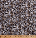 Cotton Pebbles Stones River Rocks Beach Gravel Landscape Nature Outdoors Naturescapes Gray Cotton Fabric Print by the Yard (21394-93)