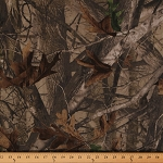 Next G2 Camo Camouflage Trees Leaves Brushed Cotton Blend Fabric by the Yard (11m)
