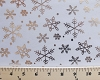 Flocked Metallic Snowflakes White Print Organza Fabric by the Yard (ds-1331-597)