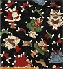 Paper Dolls Christmas Cotton Fabric Print (30861)