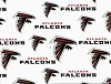 Atlanta Falcons NFL Pro Football Cotton Fabric Print