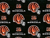 Cincinnati Bengals NFL Pro Football Cotton Fabric Print