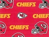 Kansas City Chiefs NFL Pro Football Cotton Fabric Print