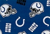 Indianapolis Colts NFL Pro Football Cotton Fabric Print