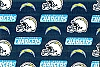 San Diego Chargers NFL Pro Football Cotton Fabric Print