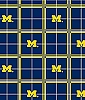 University of Michigan™ Wolverines™ Plaid Flannel Fabric Print