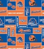Boise State University™ Broncos™ College Fleece Fabric Print