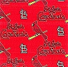St. Louis Cardinals on Red MLB Baseball Sports Team Fleece Fabric Print
