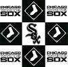 Chicago White Sox Square MLB Baseball Sports Team Fleece Fabric Print