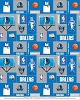 Dallas Mavericks NBA Pro Basketball Sports Team Fleece Fabric Print