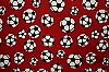 Soccer - Red Fleece Fabric Print