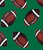 Football with Green background Fleece Fabric Print (s16051-3b)
