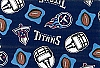 Fleece Tennessee Titans NFL Football Sports Team Fleece Fabric Print