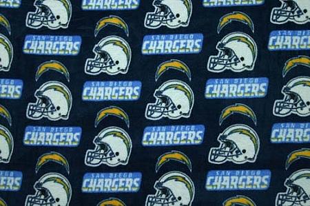 Fleece San Diego Chargers Nfl Football Fleece Fabric Print