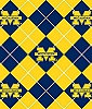 University of Michigan™ Wolverines™ Argyle Design College Fleece Fabric Print