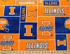 University of Illinois™ Fighting Illini™ College Fleece Fabric Print