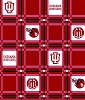 University of Indiana™ Hoosiers™ College Tailgate Tablecloth Fabric Print
