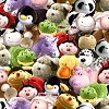 Pillow Pets™ Pet Heads Stuffed Animals Toys Fleece Fabric Print by the Yard k1388s