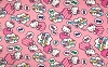 Hello Kitty Clouds & Bows Pink Fleece Fabric Print by the Yard k50732-c470710s