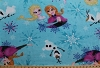 Disney® Frozen Character Elsa & Anna Sisters Ice Skating Blue Fleece Fabric Print by the Yard k53318-9130710s