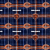Flannel Chicago Bears NFL Professional Football Sports Team Plaid Flannel Fabric Print (l6421)