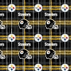 Flannel Pittsburgh Steelers NFL Professional Football Sports Team Flannel Fabric Print (L6431D)