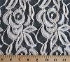 Large Floral Ivory Lace Polyester / Cotton Fabric 57