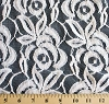 Large Floral White Lace Polyester / Cotton Fabric 57