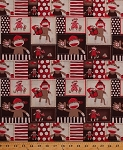 Cotton Sock Monkeys Patchwork Baseballs Kids Children's Toys Animals Red Brown Polka Dots Stripes Monkey Around Cotton Fabric Print by the Yard (1649-22449-AR)