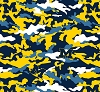 University of Michigan™ Wolverines™ Camouflage Design College Fleece Fabric Print