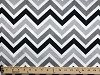 Micro Plush Chevron Fabric - Grey Black on White (5980S-12K)