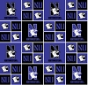Cotton University™ of Northwestern Wildcats College Cotton Fabric Print - snw020s