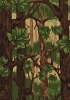 Norwegian Woods Forest Trees Leaves Leaf Fleece Fabric Print by the Yard o15242b