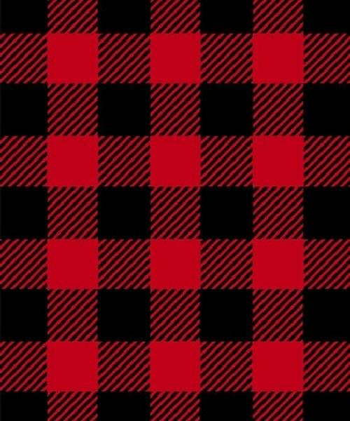 Chevron print fabric by the yard - Buffalo Plaid Red Black Fleece Fabric Print By The Yard