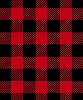 Buffalo Plaid Red Black Fleece Fabric Print by the Yard o17061-2b