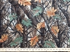 Forest Camo Tree Branches Camouflage Fleece Fabric Print by the Yard o19999b