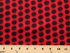 Black Dots on Red Fleece Fabric Print by the Yard oblackdotreds