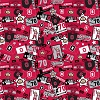 Cotton Ohio State University Buckeyes Brutus Patchwork College Cotton Fabric Print (sohs084s)