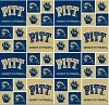 Cotton University of Pittsburgh Pitt Panthers College Cotton Fabric Print - spitt020s