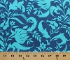 Cotton Blue Flowers Floral Vines Leaves Botanical Gardens Gardening Amy Butler Lark Ivy Bloom Cobalt Cotton Fabric Print by the Yard (pwab070-cobalt)