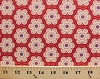 Cotton Flowers Floral Blossoms Garden Geometric Spring Folk Song Anna Maria Horner Little Honey Cotton Fabric Print by the Yard (pwah091-berry)