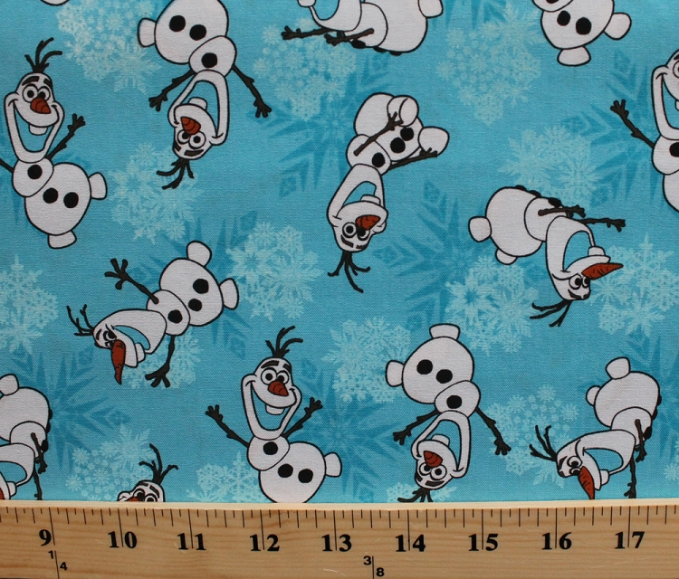 Cotton olaf disney frozen snowman snowmen snowflakes for Kids character fabric